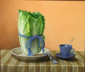 CABBAGE CUP    16 x 18    Oil on Linen   $4000