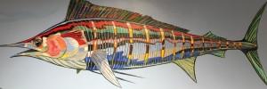 MARLIN     24 x 72     Acrylic on canvas       $3400