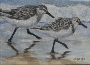 MORNING RUN  |  5 X 7  |  Oil on canvas  |  6 x 8 Framed  |  $350