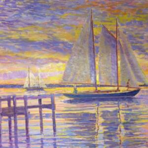 MYA AT SUNSET |  48 x 56 | unframed |  Oil on canvas | Inquire for pricing
