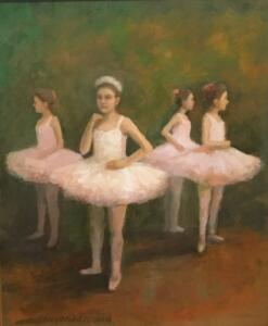 DANCERS  |  Oil on board  |  10 x 8  |  13 x 11 Framed  |  $700