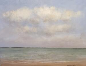 THE CALM SEA  |  Oil on canvas  |  18 x 24  |  19.5 x 25.5 Framed  |  $2200