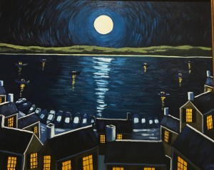 MOONLIGHT      Oil on canvas      24 x 30      31 x 37 Framed       $2900