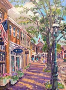 NANTUCKET TOWN  |  24 x 18  | Acrylic on canvas  |  29.25 x 23 Framed   |  $2100