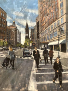 NEWBURY STREET AFTERNOON | Oil on canvas |  40  x 30 |  $1500