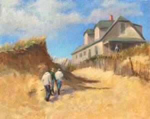 NO-KEEPERS BALLSTON BEACH  | Oil on linen  | 16 x 20 | 17.75 x 21.75 Framed  | $2200