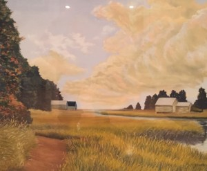 NAUSET MARSH TRAIL | 21 x 26 | Pastel on sanded paper |  28 x 33.5 Framed  |  $1500