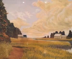 NAUSET MARSH TRAIL   21 x 26   Pastel on sanded paper    28 x 33.5 Framed     $1500