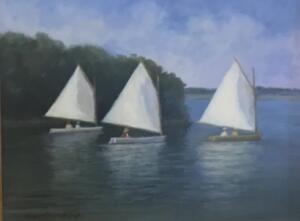 AFTERNOON SAILING  |  Oil on canvas  |  9 x 12  |  15 x 18 Framed  |  $1000