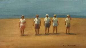 OLD FRIENDS  |  Oil on canvas  |  9 x 16  |  15 x 22 Framed  |  $950