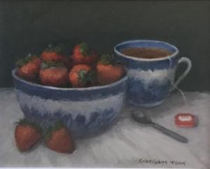 STRAWBERRY TEA  |  Oil on board  |  8 x 10  |  14 x 16 Framed  |  $700