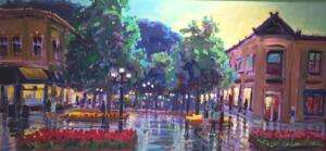 PEARL STREET MALL BOULDER COLORADO  | 18 x 36 | Acrylic on Canvas  | $2600 Framed