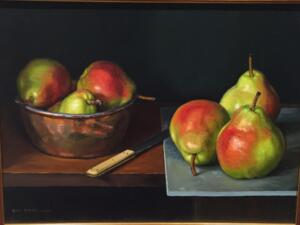 SIX PEARS  |  12 x 16 |  Oil on Linen | $3300