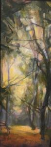 QUIETUDE  |  Oil on canvas  |  15 x 6  |  16 x 7 Framed  |  $550