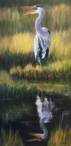 REFLECTIVE CALL     Oil on canvas     30 x 15     31 x 16 Framed     $1600