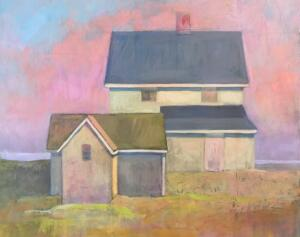 REMEMBERED PINK  | 20 x 24 | Oil and mixed media on panel |  framed  | $1600