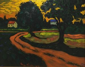 ROAD TO THE VILLAGE  |  Oil on canvas  |  20 X 24  |  27 X 31 Framed  |  $2600