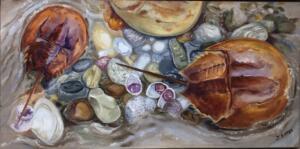 ROCK POOL     Oil on canvas     10 x 20     11.5 x 21.5 Framed     $975