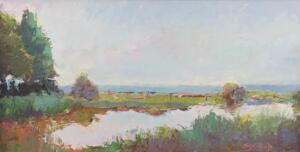 RUSHY MARSH  |  6 x 11  |  Oil on panel  |  8.5 x 14 Framed  |  $600