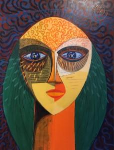 SADNESS II     Acrylic on canvas     40 x 30     46.5 x 36.5 Framed   $3500