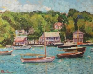 SAILBOATS AT QUISSETT  |  14 X 18  |  Oil on canvas |  20.5 X 24.5 Framed  |  $6000