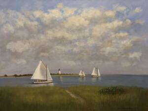 SAILING IN THE BAY | Oil on canvas  | 36 x 46 | $3500