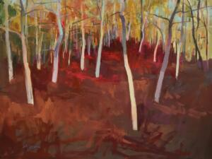 SHIFTING REDS  |   Oil on panel  |  18 x 24  |  19 x 25 Framed  |  $1600