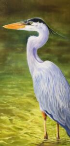 SILENT SENTRY  |  Oil on canvas  |  30 x 15  |  31 x 16 Framed  |  $1600