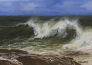 CAPE BREAKER  |  5 x 7  |  Oil on canvas  |  6.5 x 8,5 Framed  |  $350
