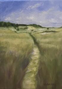 MARSH TRAIL     7 x 5     Oil on canvas     8.5 x 6.5 Framed     $350