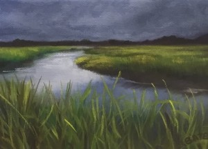 STORM LIGHT  |  5 x 7  |  Oil on canvas  |  6.5 x 8.5 Framed  |  $350