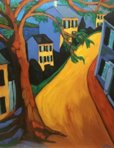 SOUTH WATER STREET  |  Oil on canvas  |  18 x 14  |  24 x 20 Framed  |  $1100