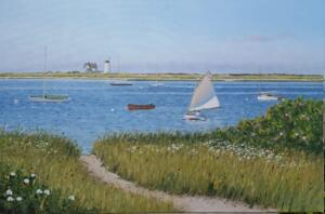 STAGE HARBOR, CHATHAM   |  Oil on canvas  |   24 x 36  |   31.5 x 43.5 Framed   |   $3800