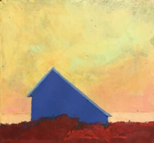 STILL HERE  | Oil on board  |  6.25 x 6.5  |  7 x 7.25 framed | $375