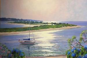 SUNLIGHT REFLECTION  |  24 X 36  |  Acrylic on canvas  |  29.5 x 41.5 Framed  |  $3200