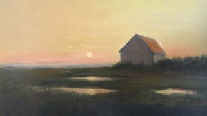 SUNSET WITH BOASTHOUSE       |  9.5 X 13.5 | $500
