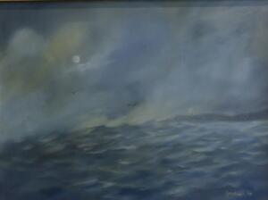 SWEEPING SEA  |  18 x 24 |  Oil on canvas |  23 x 29 Framed  |  $1800