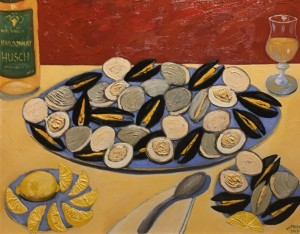 STEAMERS  |   Oil on canvas    |  24 x 30   |  28 x 34 Framed    |  $2900