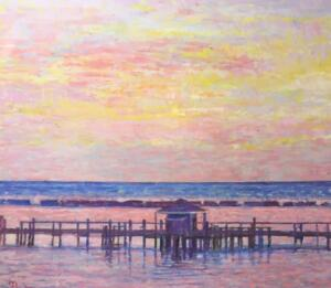 SUNSET AT HYANNISPORT | 40 x 48 | unframed | Oil on canvas | Inquire for pricing
