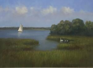 SWAN COVE  |  Oil on canvas  | 18 x 24  |  25 x 31 Framed |   $2,500