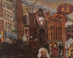 THE ADORATION  |  Oil on canvas  |  16 x 20  |  22 x 26 Framed  |  $1600