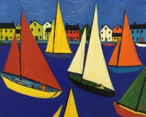 THE FLEET  |  16 X 20  |  Oil on canvas  |  21 x 25 Framed  |  $1750