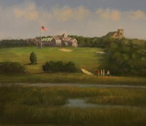 THE HYANNIS PORT GOLF CLUB | Oil on board | 18 x 12 | $1000