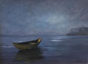 THE LITTLE YELLOW DORY  |  Oil on board  |  11 x 14  |  14 x 17 Framed  |  $850