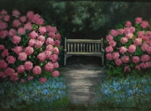 THE SECRET GARDEN  | Oil on Board  |  9 x 12  |  16 x 19 Framed  |  $900