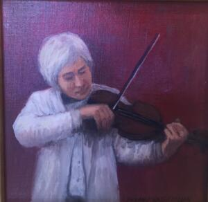THE VIOLINIST  |  8 x 8  |  Oil on canvas  |  $500