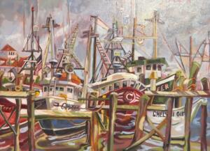 TIDES SANDWICH HARBOR  |  Oil on canvas  |  18 x 24  |  24 x 30 Framed  |  $1750