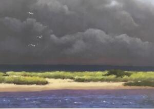 TOMORROW's WEATHER TODAY|  Pastel on paper  |  17.5 x 24.25  |  27.5 x 34.25 Framed  |  $3400