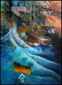 TSUNAMI  |  32 x 23  |  Mixed media: sheet metal and oil on panel  |  33 x 24  Framed  |  $2000