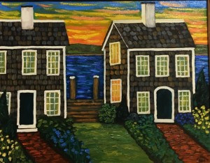 TWIN COTTAGES    |  Oil on canvas   |  16 x 20    |  23 x 27 Framed    |  $2100
